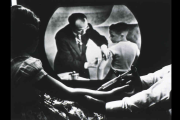 JONAS SALK GIVING VACCINE ON TV WHILE CHILD WATCHES
